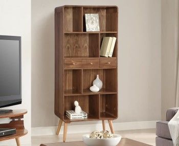 Trezela Walnut Bookcase