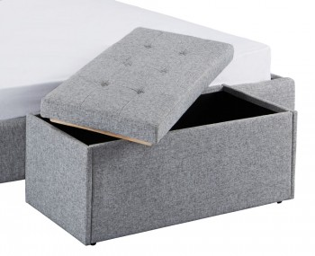 Bloomfield Grey Fabric Upholstered Ottoman