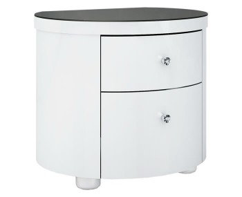 Pryce White Gloss Bedside Chest