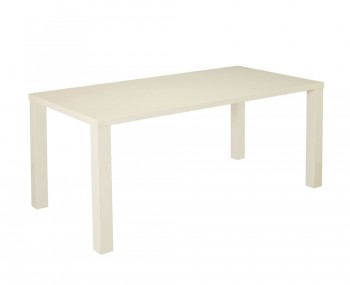 Puro Cream High Gloss Large Dining Table