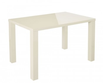 Puro Cream High Gloss Medium Dining Table