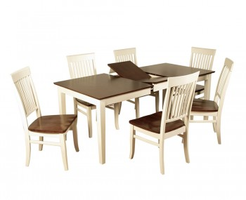 Hutton Two-Tone Extending Dining Table and Chairs