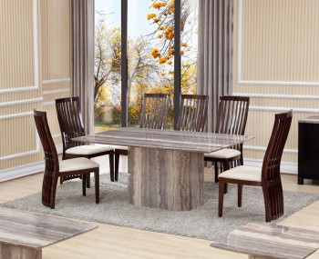 Thurston Marble Effect Dining Table and Chairs