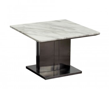 Exeter Marble and Steel Lamp Table