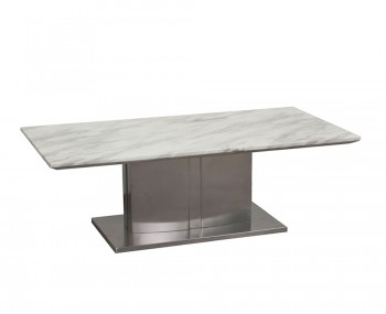 Exeter Marble and Steel Coffee Table