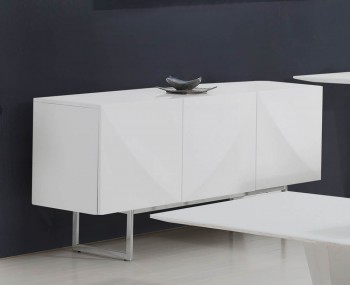 Brodie White High Gloss Sideboard
