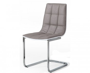 brodie grey faux leather dining chairs