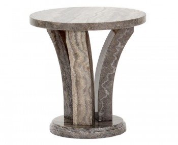 Monterosso Pearl Grey Marble Lamp Table
