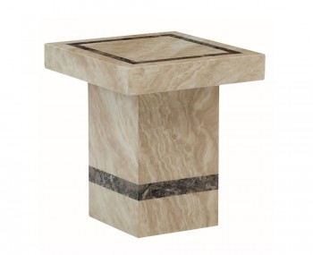 Charleston Cream Marble Square Lamp Table