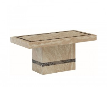 Charleston Cream Marble Rectangle Coffee Table
