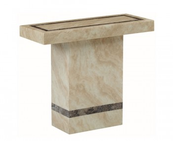 Charleston Cream Marble Rectangle Console Table