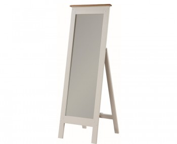 Walden Stone White and Oak Cheval Mirror