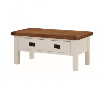 Walden Stone White and Oak Storage Coffee Table