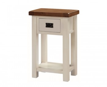 Walden Stone White and Oak Small Console Table
