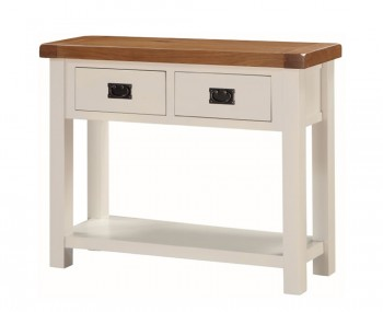 Walden Stone White and Oak Large Console Table