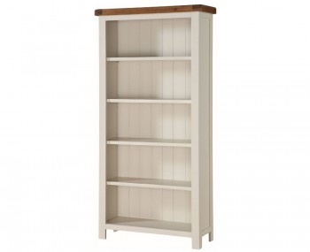 Walden Stone White and Oak Tall Wide Bookcase
