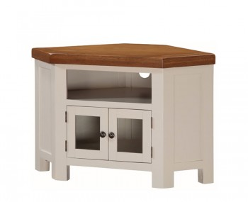 Walden Stone White and Oak Corner TV Unit