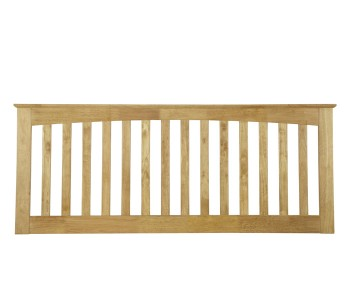 Bonetti Honey Oak Slatted Headboard
