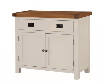 Walden Stone White and Oak 2 Door Sideboard
