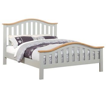 Marlstone Grey and Oak Bed Frame