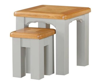 Marlstone Grey and Oak Nest of Tables