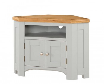 Marlstone Grey and Oak Corner TV Unit