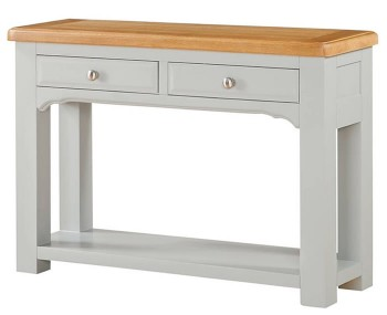 Marlstone Grey and Oak Large Console Table