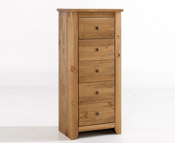 Constantine Pine 5 Drawer Tall Chest