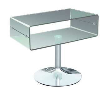 Halmstad Clear Glass TV Stand