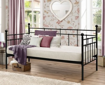 Justine 3ft Black Metal Day Bed