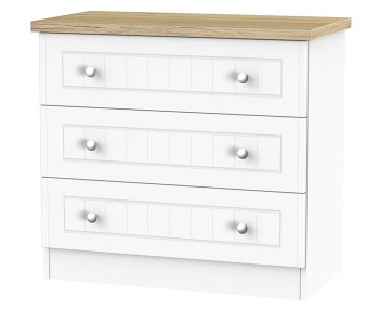 Catalonia Porcelain and Bordeaux Oak 3 Drawer Chest