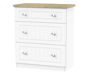 Catalonia Porcelain and Bordeaux Oak 3 Drawer Deep Chest