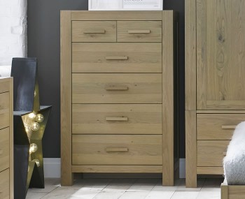 Renzo Aged Oak 4+2 Drawer Chest