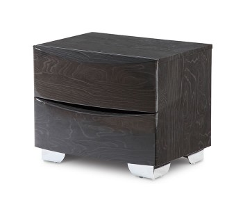 Lansbury Grey High Gloss Wooden Bedside Chest