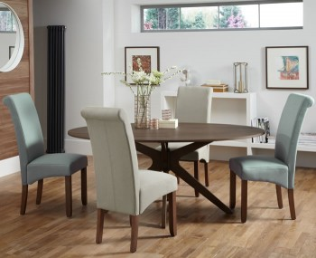 Barnstable Walnut Oval Dining Table and Chairs