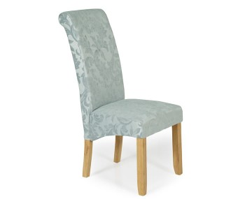 Barnstable Duck Egg Floral and Oak Dining Chairs
