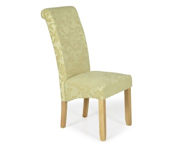 Barnstable Oatmeal Floral and Oak Dining Chairs