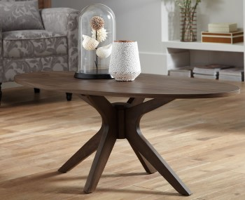 Barnstable Walnut Oval Coffee Table