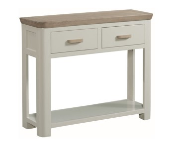 Angelo Stone Painted and Oak Large Console Table