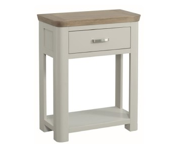 Angelo Stone Painted and Oak Small Console Table