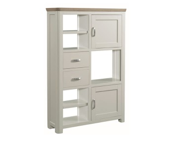 Angelo Stone Painted and Oak Tall Display Unit