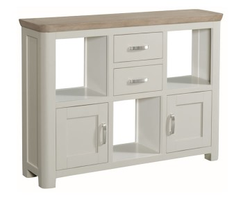 Angelo Stone Painted and Oak Low Display Unit