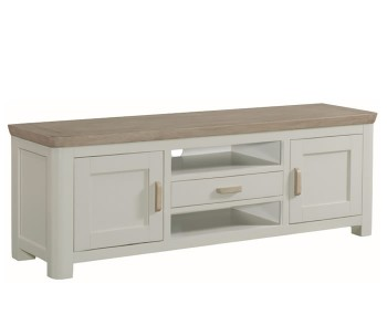 Angelo Stone Painted and Oak Wide TV Unit