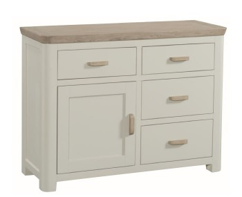 Angelo Stone Painted and Oak Small Sideboard