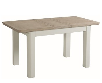 Angelo Stone Painted and Solid Oak 120cm Extending Dining Table