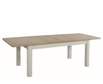 Angelo Stone Painted and Solid Oak 180cm Extending Dining Table