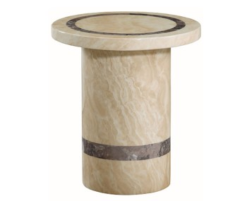 Charleston Cream Marble Round Lamp Table
