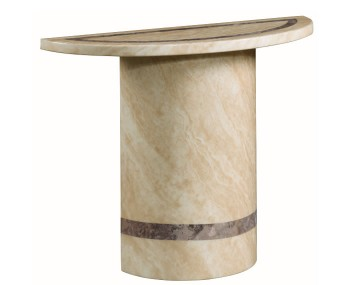 Charleston Cream Marble Half Moon Console Table