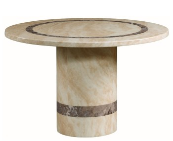 Charleston Cream Marble Round Dining Table