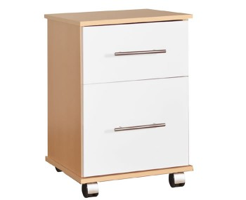 Watson Beech and White High Gloss Bedside Cabinet Set of 2 *Special Offer*